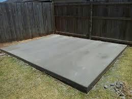 Large shed slab
